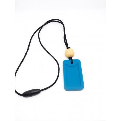 Collier enfant Dog tag bleu