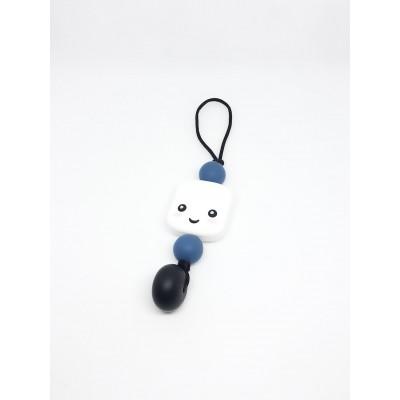 Breloque Guimauve bleue et noire