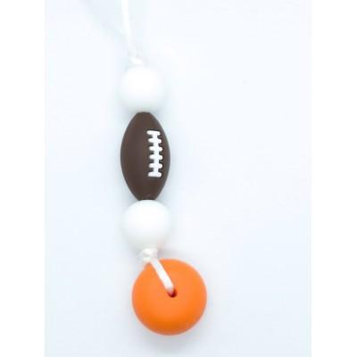 Breloque Football blanc et orange
